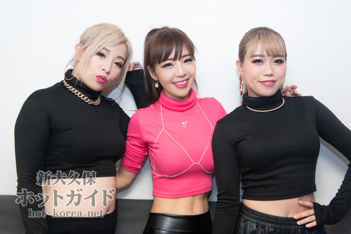 左から) レイラ / Yuki / セイナ