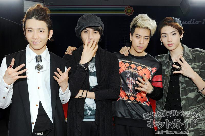 左から Myung Han(ミョンハン) / Kyle(カイル) / Enzo(エンゾ) / Y-Jun(ワイジュン)