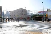 雪(2014/2/9) 新大久保駅前・大久保小学校