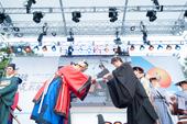 両国大学生が平和メッセージ 日韓交流おまつり2015 開幕